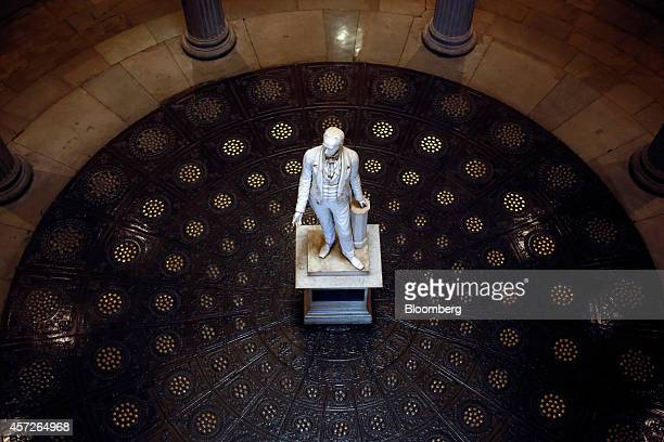 Statue of Henry Clay stands in Metro Hall outside the office of Louisville Mayor Greg Fischer in downtown Louisville, Kentucky, U.S., on Thursday,...