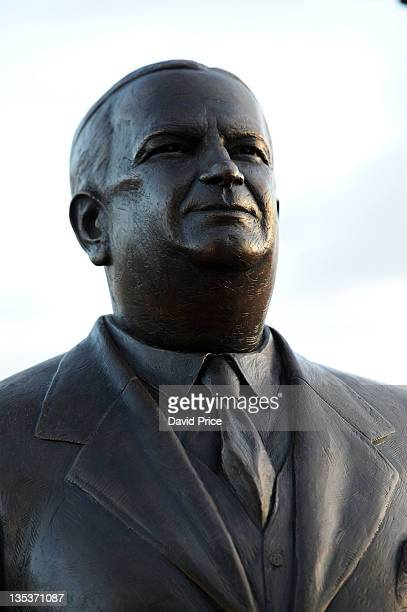 Statue of Herbert Chapman Arsenal Legend is unveiled at Emirates Stadium one of three iconic statues to be placed at the Emirates Stadium home of...