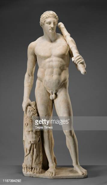 Statue of Hercules Unknown Roman Empire about 125 Marble Object H 1935 x W 79 x D 47 cm Weight 3855575 kg