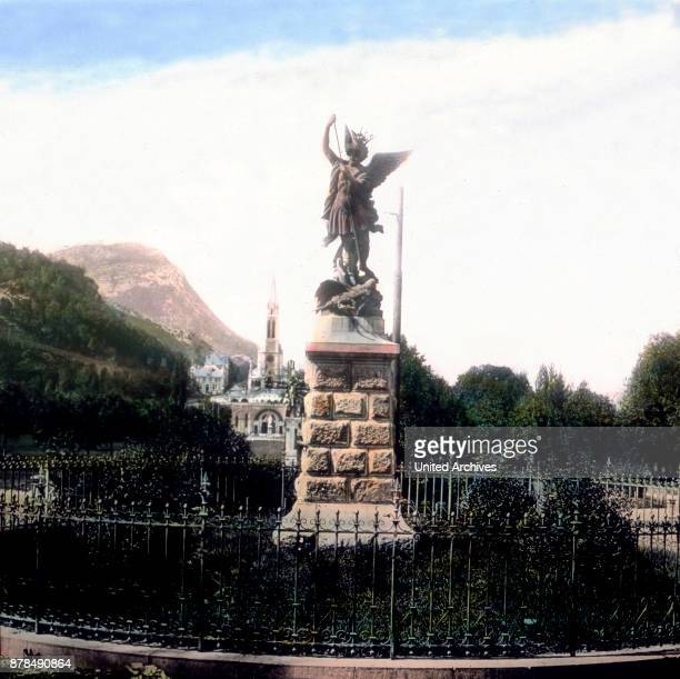 Statue of Holy Michael at Lourdes