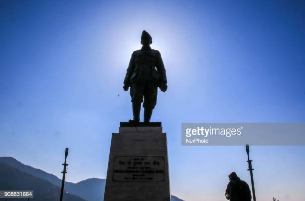 Statue of Indian Leader Subhash Chandra Bose at Dalhousie town of Chamba District Himachal Pradesh India 22 Jan2018The Dalhousie is a hill station in...