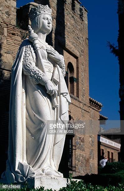 Statue of Isabella I queen of Castile Toledo Castile Spain