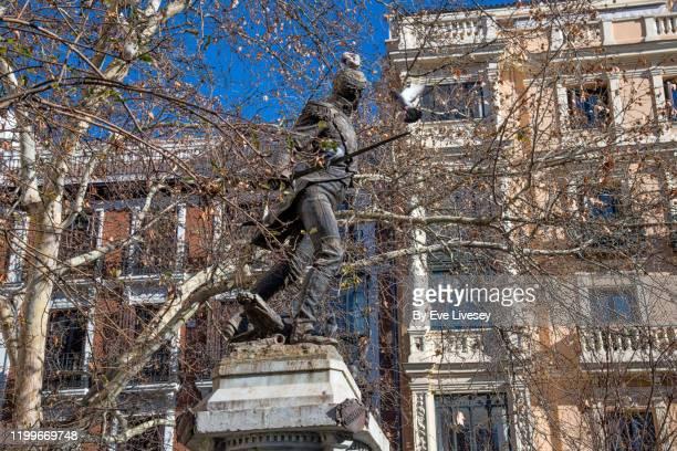 statue of jacinto ruiz y mendoza - lieutenant stock pictures, royalty-free photos & images
