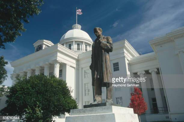 statue of james marion sims at alabama state capitol - montgomery alabama stock pictures, royalty-free photos & images
