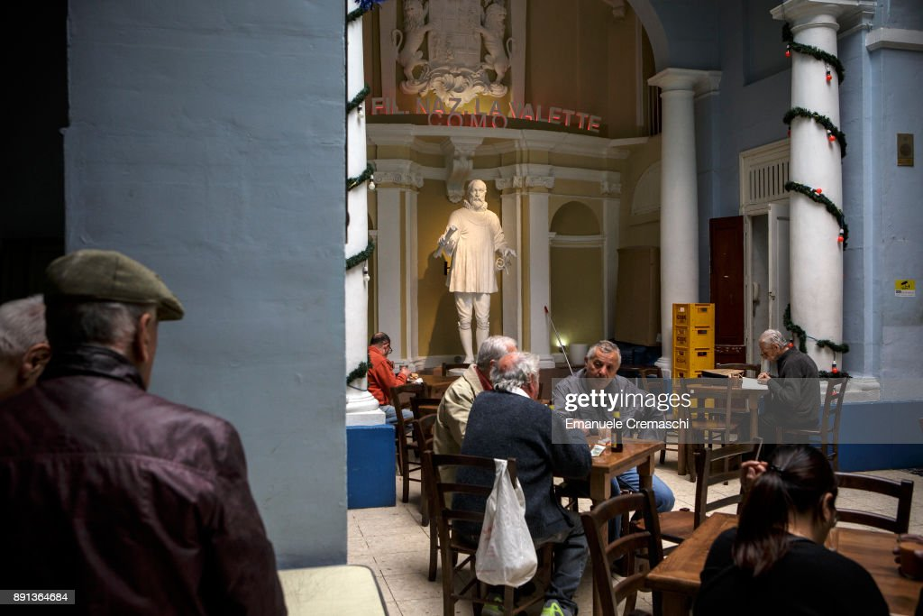 A statue of Jean Parisot de la Valette, a French nobleman and Grand Master of the Order of the Knights of Malta, stands inside a coffee shop on December 9, 2017 in Valletta, Malta. Valletta, a fortified town that dates back to the 16th century, is the southernmost capital of Europe and a UNESCO World Heritage Site: together with all the Maltese islands, it will be hosting the title of European Capital of Culture in 2018.