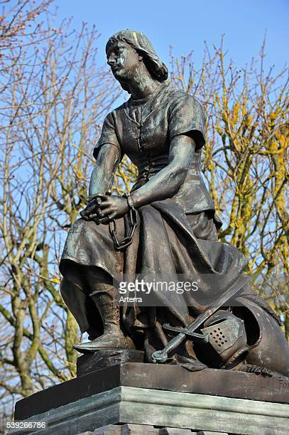 Statue of Jeanne d'Arc / Joan of Arc at Le Crotoy Bay of the Somme Picardy France