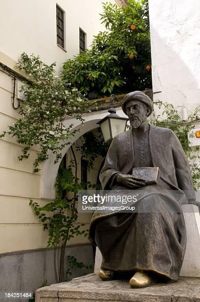 Statue of Jewish philosopher Maimonides Cordoba Span