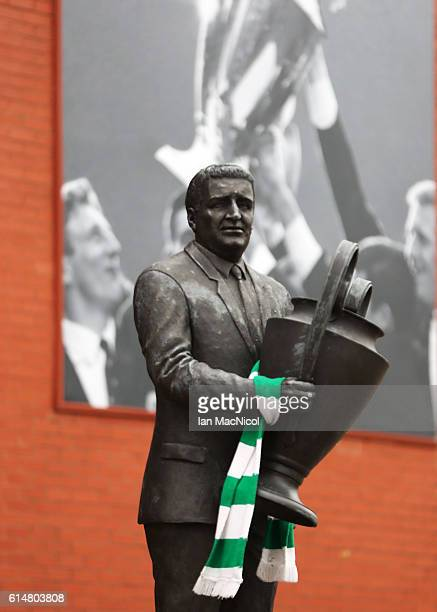 Statue of Jock Stein is seen prior to the Ladbrokes Scottish Premiership match between Celtic and Motherwell at Celtic Park Stadium on October 15...