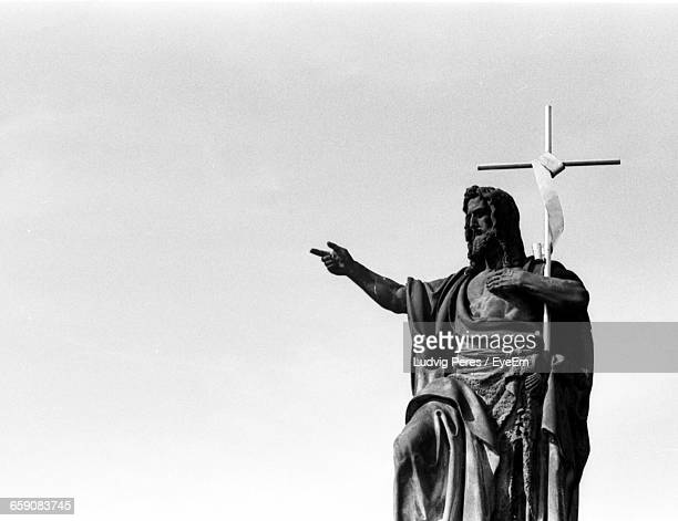 statue of john baptist - john the baptist stock photos and pictures
