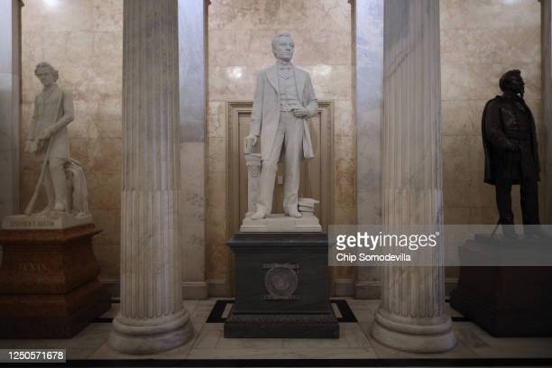 Statue of John E. Kenna, a Confederate soldier from West Virginia and U.S. Senator after the Civil War, is on display in the U.S. Capitol Hall of...