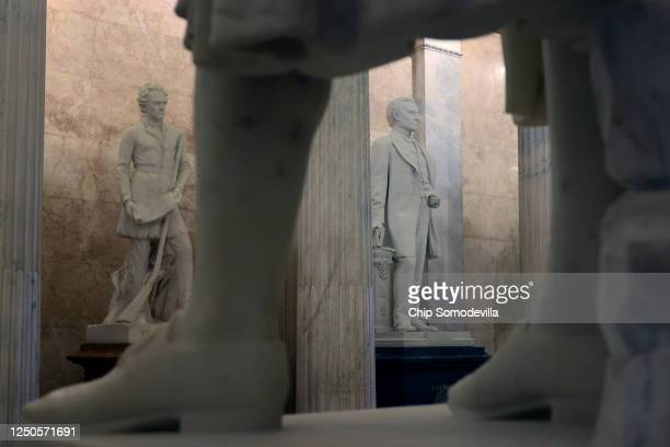 Statue of John E. Kenna , a Confederate soldier from West Virginia and U.S. Senator after the Civil War, is on display in the U.S. Capitol Hall of...