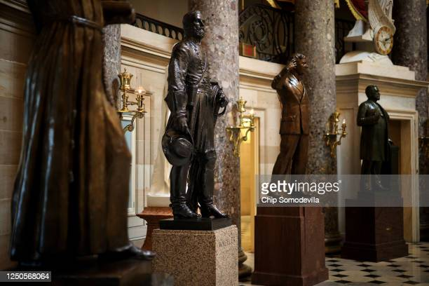 Statue of Joseph Wheeler , a cavalry general in the Confederate States Army during the Civil War and member of the House of Representatives, is on...