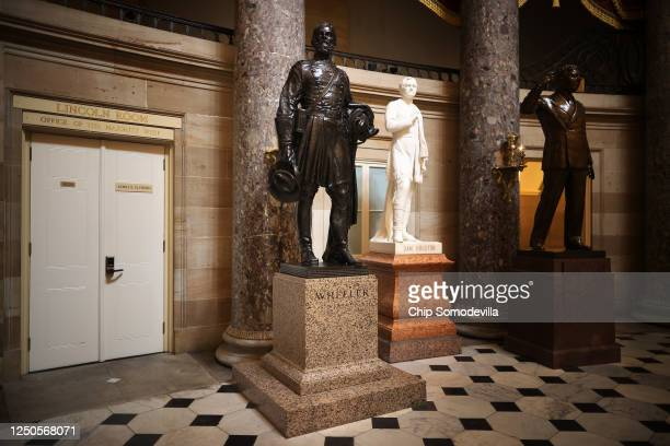 Statue of Joseph Wheeler , a cavalry general in the Confederate States Army during the Civil War and member of the House of Representatives, stands...