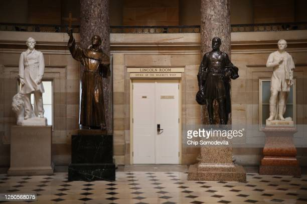 A statue of Joseph Wheeler a cavalry general in the Confederate States Army during the Civil War and member of the House of Representatives stands on...