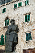 Statue of Juraj Dalmatinac (Giorgio da Sebenico) at the square Trg Republike Hrvatske Sibenik, Croatia