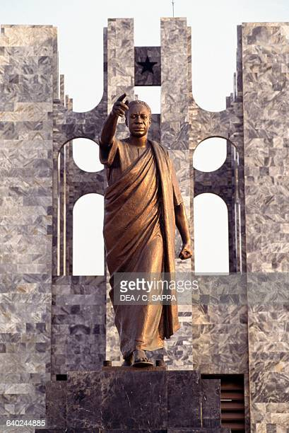 Statue of Kwame Nkrumah in the mausoleum dedicated to him Accra Ghana 20th century