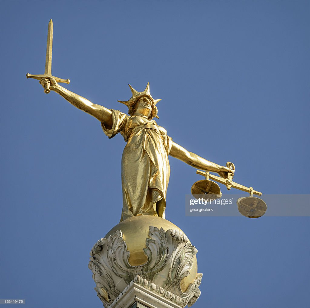 Statue of Lady Justice : Stock Photo
