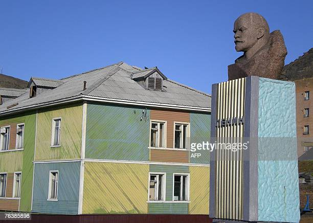 A statue of Lenin photographed 23 August 2007 still dominates the main square in the Russian mining community of Barentsburg in the Norwegian Arctic...