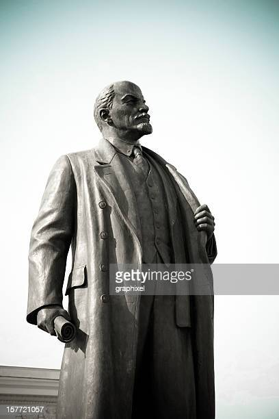 statue of lenin - lenin stock pictures, royalty-free photos & images