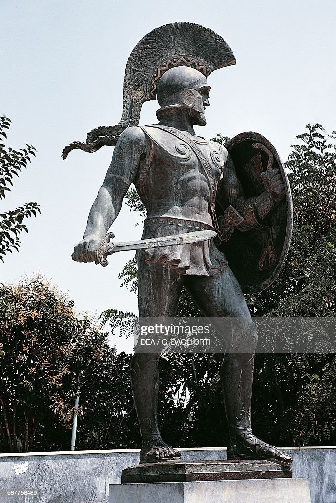 Statue of Leonidas, Sparta : News Photo
