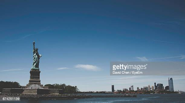 Statue Of Liberty Against Blue Sky