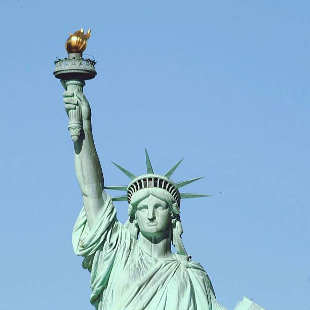 Statue Of Liberty Against Clear Sky Wall Art