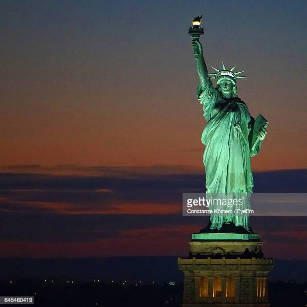 Statue Of Liberty Against Sky At Twilight