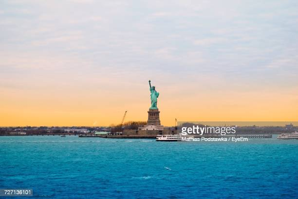 Statue Of Liberty At Waterfront