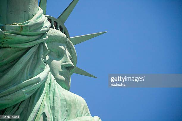 statue of liberty close up face - ellis island stock pictures, royalty-free photos & images