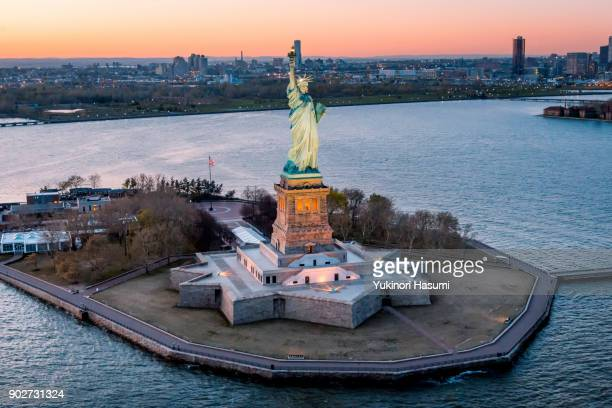 Statue of liberty from above