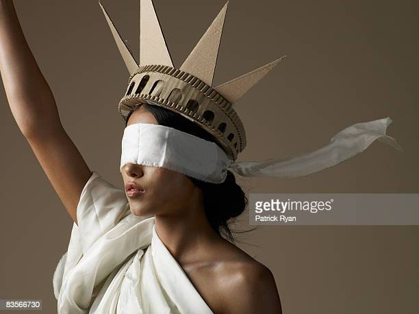 Statue of Liberty Model with Blindfold