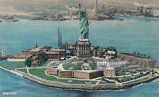 Statue of Liberty on Bedloe's Island in New York Harbor New York City' circa 1940s [Colourpicture Publication Boston] Artist Unknown