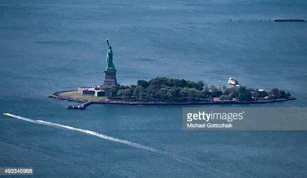 Statue of Liberty on liberty island on September 26 2015 in New York United States