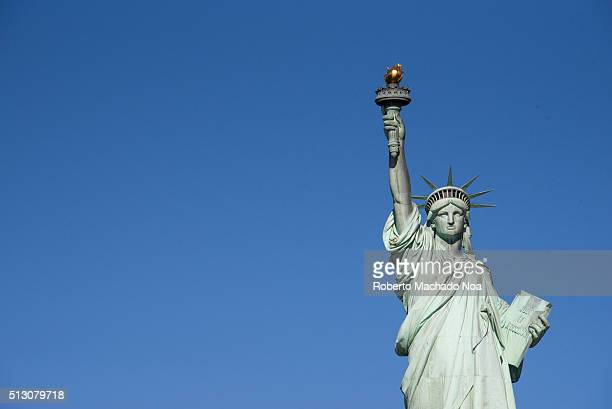 Statue of Liberty or Green Lady one of the most important symbols and tourist attractions in the city