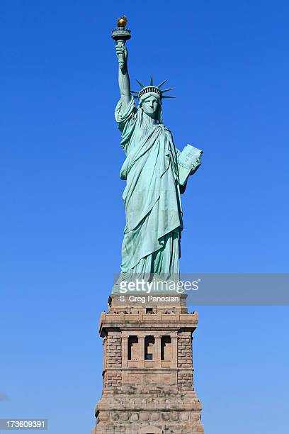 Statue of Liberty photograph with blue sky