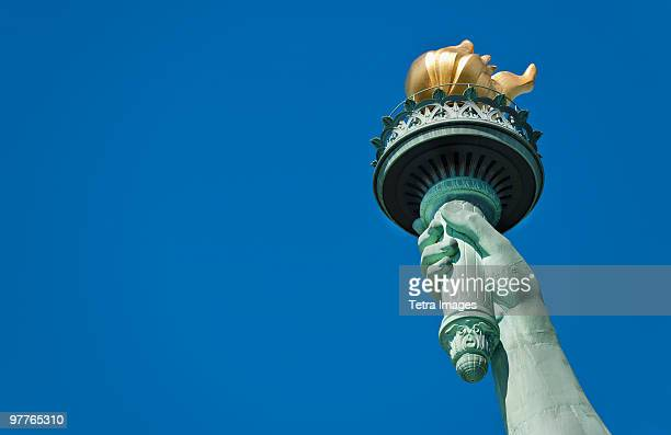 statue of liberty - flame stock pictures, royalty-free photos & images
