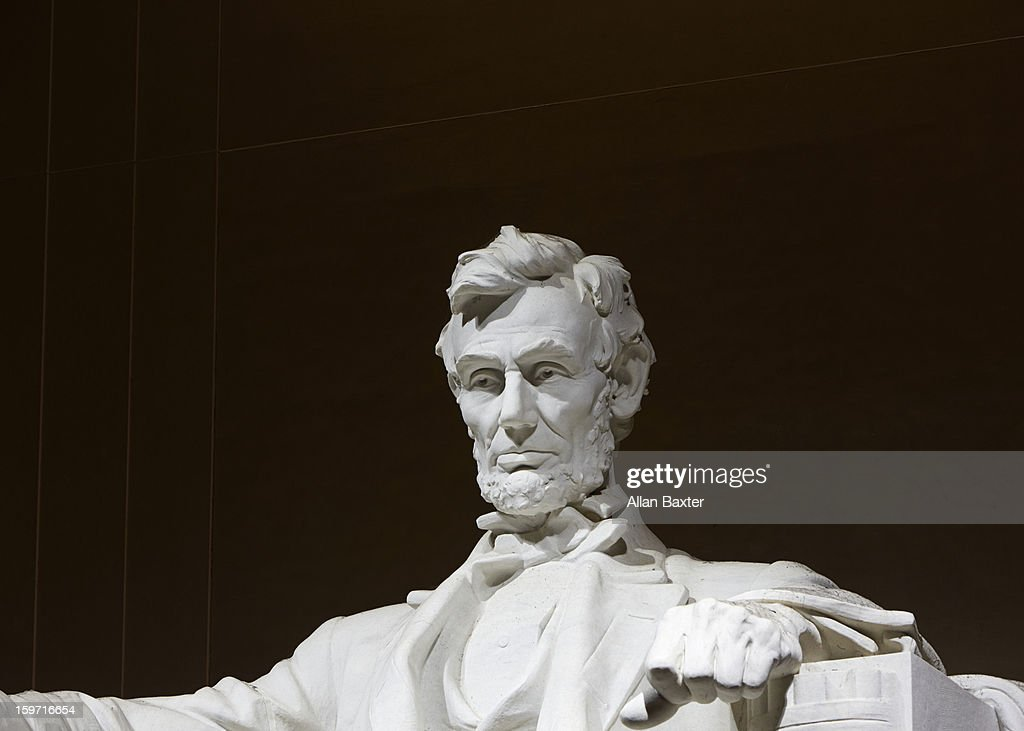 Statue of Lincoln at Lincoln Memorial : Stock Photo