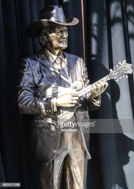 Statue of Little Bill Monroe at the unveiling of statues of Little Jimmy Dickens and Bill Monroe at Ryman Auditorium on June 7, 2017 in Nashville,...