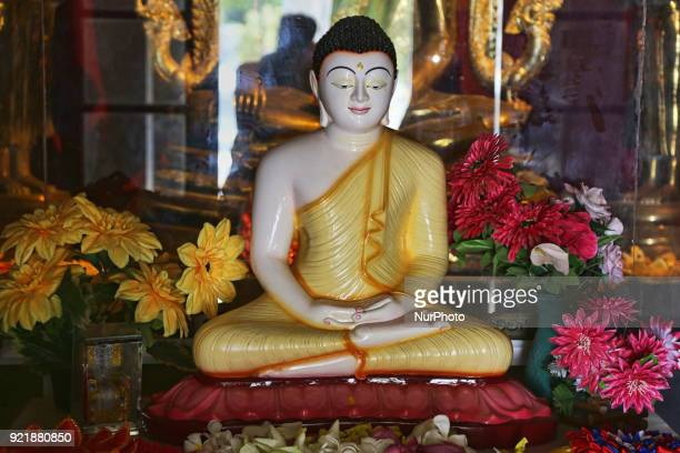 Statue of Lord Buddha at the Nagadipa Vihara on Nainativu Island in the Jaffna region of Sri Lanka