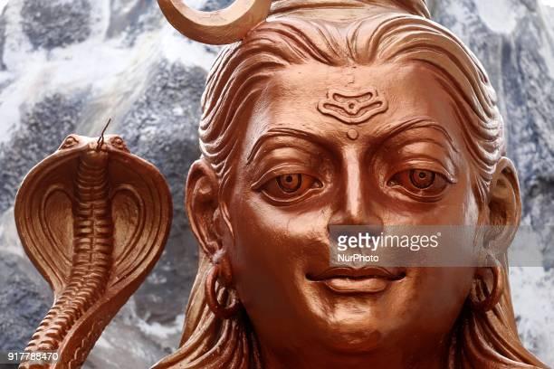 Statue of Lord Shiva during Maha Shivratri festival in Ajmer, India, on 13 February 2018.