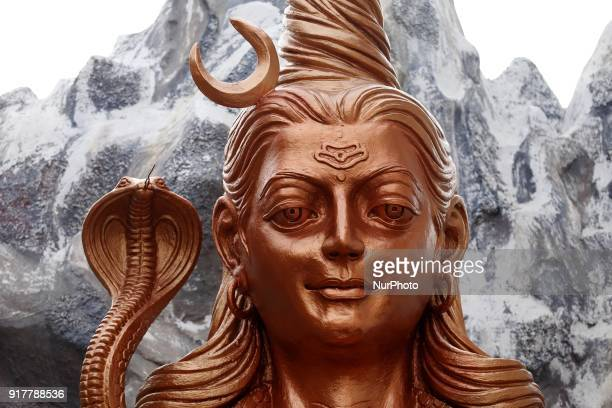 Statue of Lord Shiva during Maha Shivratri festival in Ajmer India on 13 February 2018