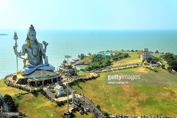 statue of lord shiva - shiva stock photos and pictures
