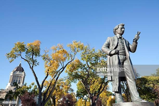 Statue of Louis Riel Winnipeg  Manitoba