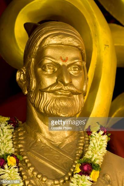 statue of maratha king shivaji at pune, maharashtra, india - maharaja stock pictures, royalty-free photos & images