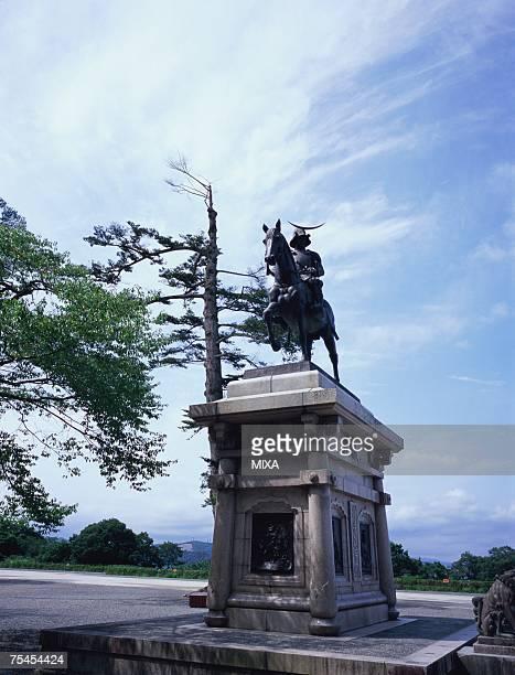Statue of Masamune Date in Sendai, Miyagi Prefecture, Japan