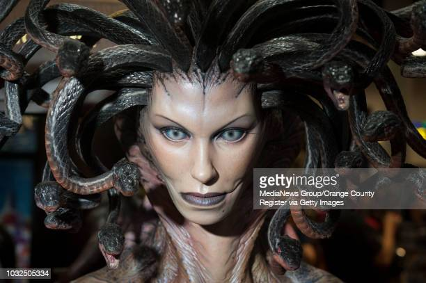 Statue of Medusa at day two of the 2015 San Diego Comic-Con International Friday. ///ADDITIONAL INFO: ComicCon_Day2.kjs --- Photo by KEVIN SULLIVAN /...