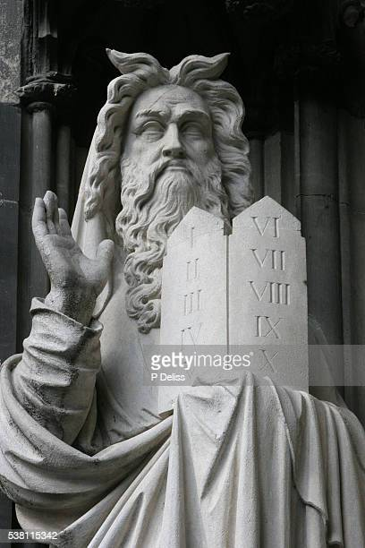 Statue of Moses at Cologne Cathedral