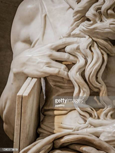 statue of moses - sculpture stock pictures, royalty-free photos & images