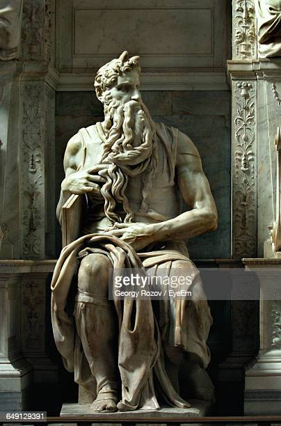 Statue Of Moses Sculpted By Michelangelo At San Pietro In Vincoli