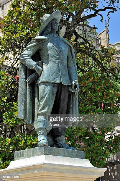 Statue of musketeer d'Artagnan at Auch Gers Pyrenees France